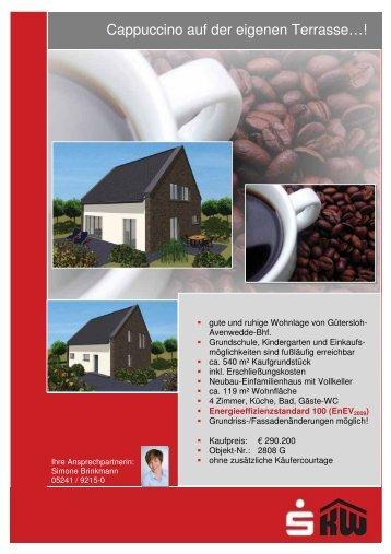 Cappuccino auf der eigenen Terrasse…!
