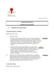 Télécharger l'agenda parlementaire complet - Centre d'Action Laïque