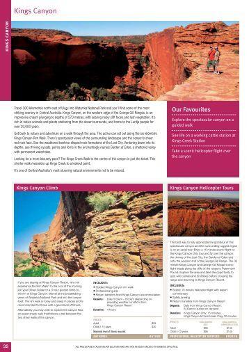 Kings Canyon - Sunlover Holidays