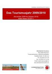 Tourismusjahr 2009/2010 - Oberösterreich Tourismus