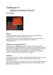 Topflappen in Shadow-Knitting-Technik von Anke