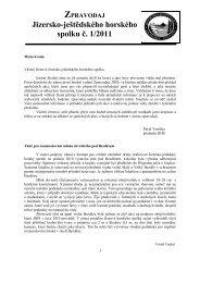 Zpravodaj JJHS č. 1/2011 - Jizersko-ještědský horský spolek