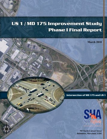 US 1 / MD 175 Improvement Study Phase I Final Report March 2010