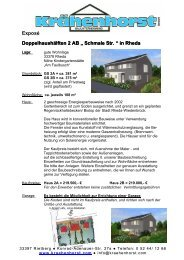 """Exposé Doppelhaushälften 2 AB """" Schmale Str. """" in Rheda"""
