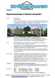 Exposé Eigentumswohnungen in Gütersloh, Georgstraße