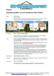 Exposé Doppelhaushälfte 1 A in GT-Isselhorst; Haller Straße