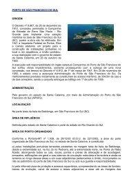 Porto de São Francisco do Sul (Santa Catarina) - Transportes.gov.br