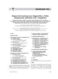 Doporučené postupy pro diagnostiku a léčbu nemocných s ...