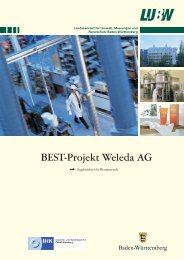 BEST-Projekt Weleda AG - Umwelttechnologie und ...