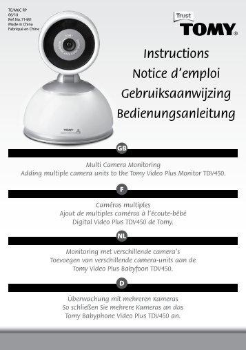 Instructions Notice d'emploi Gebruiksaanwijzing ... - Tomy