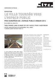 la ville tournée vers l'espace public prix européen de ... - Public Space