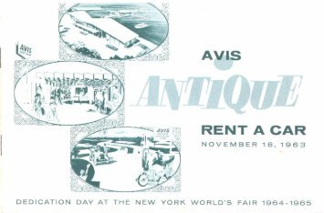 Avis - Dedication booklet - November 18, 1963 - WorldsFairPhotos