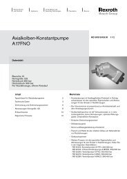 Axialkolben-Konstantpumpe A17FNO - Group VH A/S