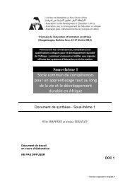 Sous-thème 1 Socle commun de compétences pour un ... - ADEA