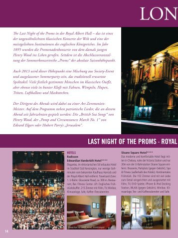"+++ London "" Last Night of the Proms "" - City-reiseservice.de"