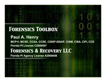 Forensics Toolbox