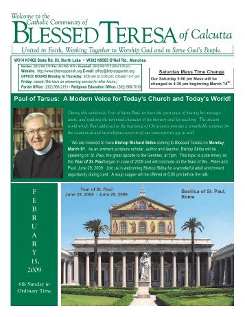 15February2009 - Blessed Teresa of Calcutta Parish