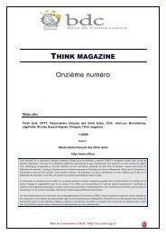 Think magazine - Base de connaissance AEGE