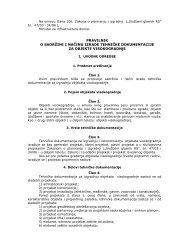 Pravilnik o sadržini i načinu izrade tehničke dokumentacije za ...