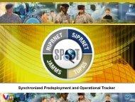 Synchronized Predeployment and Operational Tracker (SPOT)