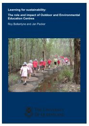 Learning for sustainability: The role and impact of Outdoor and ...