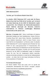 MediaInfo ADAC Batterietest 2011 D - Banner GmbH