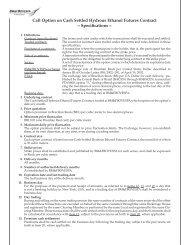 Call Option on Cash Settled Hydrous Ethanol ... - BM&FBovespa