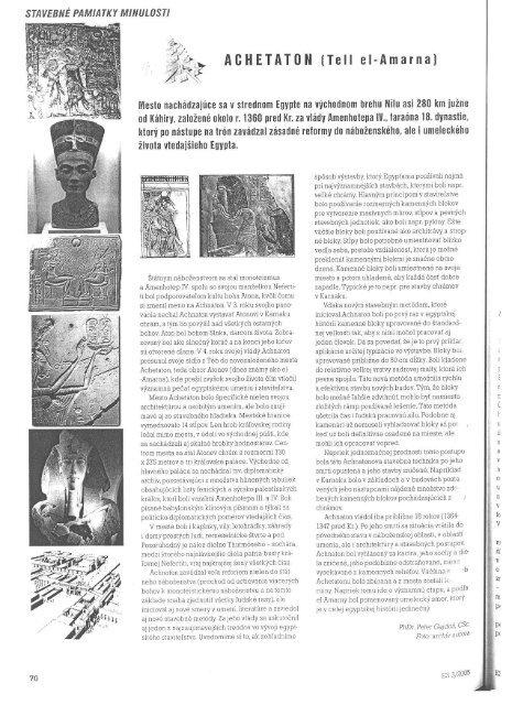 Stavebne pamiatky minulosti /pdf