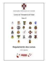 Regulamento de Cursos Futsal – Nível II - Associação de Futebol do ...