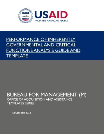 Fixed Obligation Grant Template Usaid