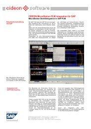 CIDEON MicroStation PLM Integration für SAP - CIDEON AG