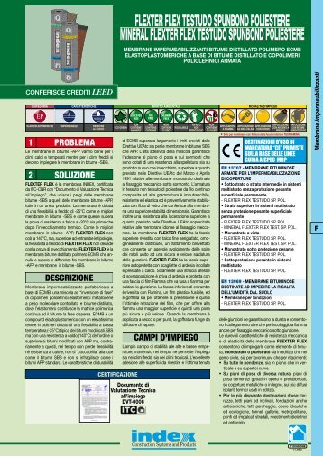 flexter flex testudo spunbond poliestere - Index S.p.A.