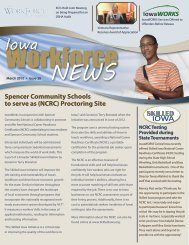 March 2013 Issue 28 - Iowa Workforce Development