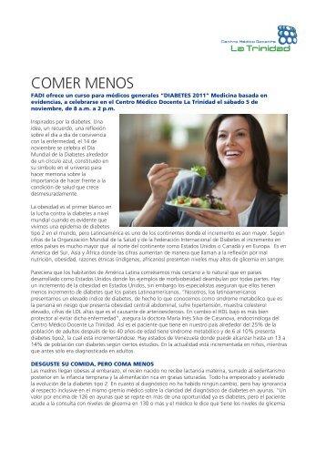 COMER MENOS - Centro Médico Docente La Trinidad