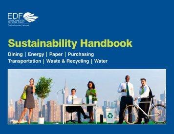 EDF Sustainability Handbook - Environmental Defense Fund