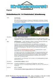 Exposé Einfamilienhaus Nr. 3 in Friedrichsdorf, Schwalbenweg ...
