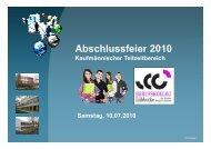 Abschlussfeier 2010 - Berufskolleg Lübbecke