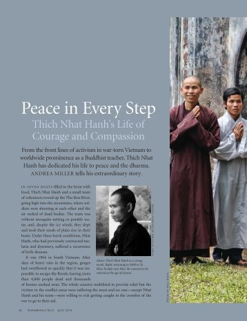 Peace in Every Step - The Mindfulness Bell