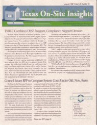 TNRCC Combines OSSF Program, Compliance Suppon Division ...