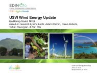 USVI Wind Energy Update - Energy Development in Island Nations