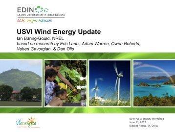 USVI Wind Energy Update - Energy Development in Island Nations