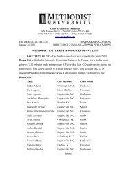 Microsoft Word Deans List December 2010.doc - Methodist University