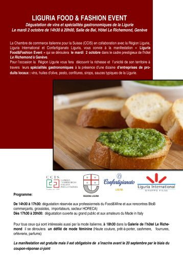 LIGURIA FOOD & FASHION EVENT