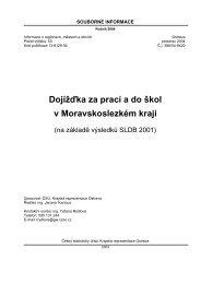 na základě výsledků SLDB 2001 - Český statistický úřad