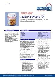 Aidol Hartwachs-Öl - K+P Holz-Shop