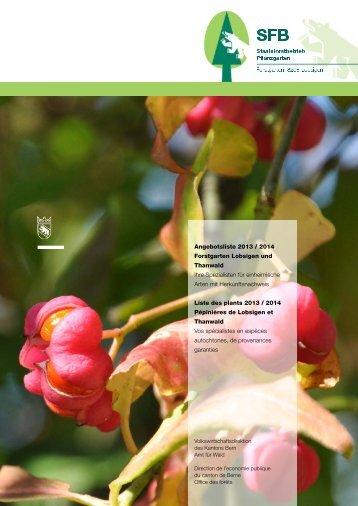 Forstpflanzen / Plantes forestières - Volkswirtschaftsdirektion