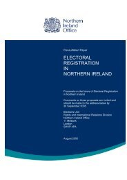 the future of electoral registration in northern ireland - CAIN