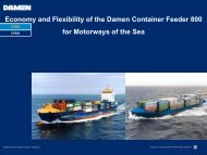 Economy and Flexibility of the Damen Container Feeder ... - Sutranet