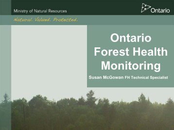 Ontario Forest Health Monitoring - Credit Valley Conservation