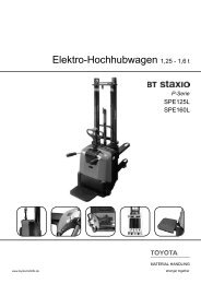 Elektro-Hochhubwagen Staxio SPE125L 160L - Toyota Material ...